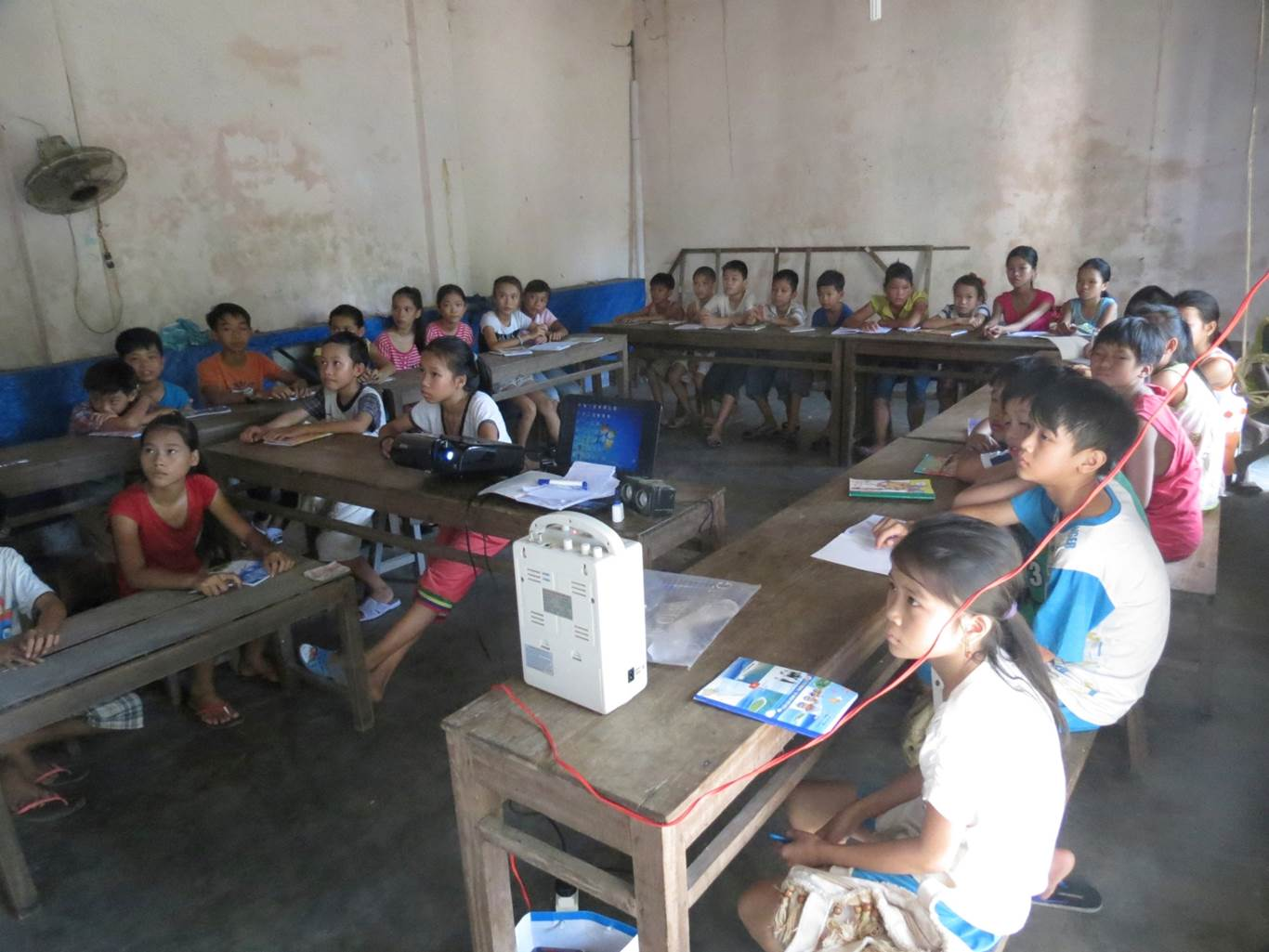 children in the classroom